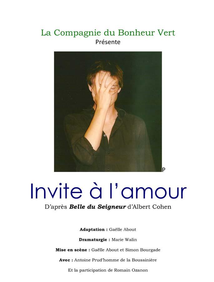Invite à l'amour (Cie Le Bonheur Vert)