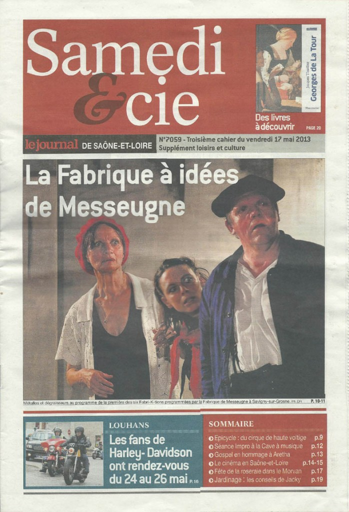 Articles de Presse Samedi et Cie du 17 mai 2013