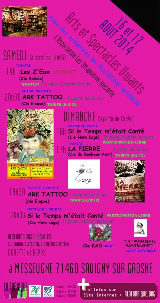 AFFICHE de la Cinquième FABRI-K-tion 2014 (16 et 17 Aout)